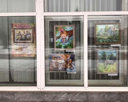 Выставка картин черноголовских художников «Разноцветная палитра» в окнах Дома ученых НЦЧ РАН 30.11.2020
