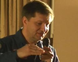 Выступление космонавта-испытателя А.Н. Бабкина в Доме ученых НЦЧ РАН 06/06/2017