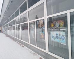 Художественная выставка студии «Разноцветная палитра» в окнах Дома ученых НЦЧ РАН 21.02.2021